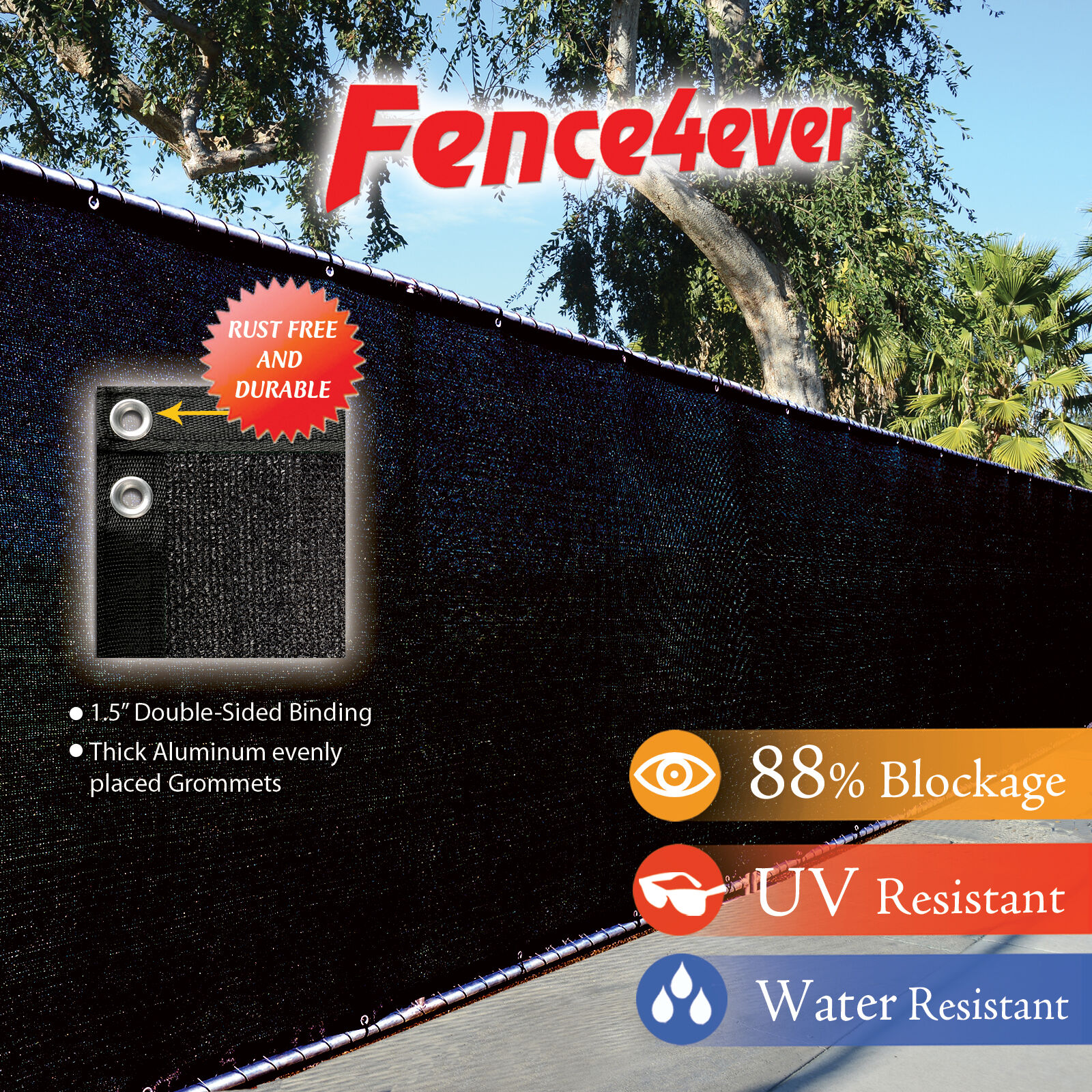 Privacy screen for chain link fence ebay - Black 6 X50 Fence Windscreen Privacy Screen Shade Cover Fabric Mesh Garden