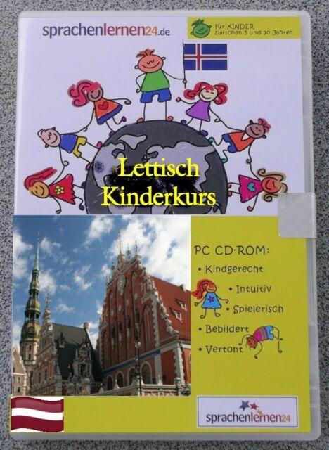 Lettisch - Kindersprachkurs Lernsoftware auf CD-ROM ,Sprachenlernen24