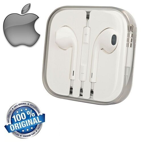 Cuffie Auricolari EarPods Originali Apple iPhone 5 5S 6 6s iPod MD827ZM/A GLS24