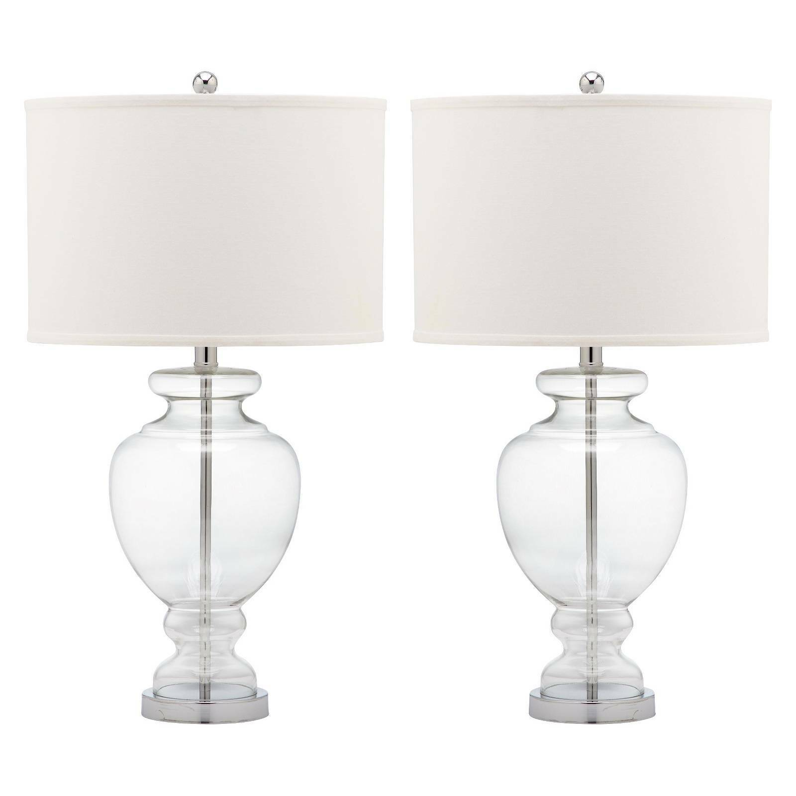 discontinued clear lamp waterford us pleated table