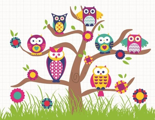Illuminated LED Canvas/Picture/Night Light ~ 9 Led Owl Canvas for Kids Bedroom