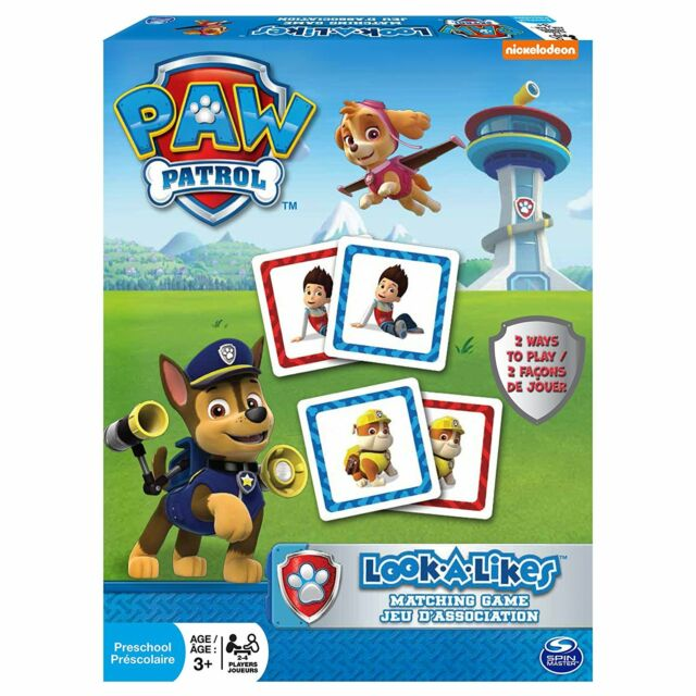Paw Patrol - Look a Likes Matching Game - Kid's Memory Board Game by Nickelodeon