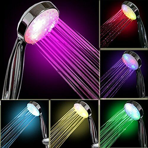 InteTech Led Light Shower,7 Colour Changing Shower Head LED Light Up Rainfall