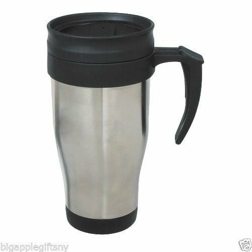 Stainless Steel Insulated Double Wall Travel Coffee Mug Cup 14 Oz Ebay