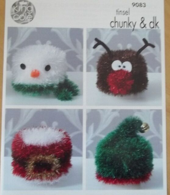 King Cole Knitting Pattern 9083 Novelty Christmas Toilet Roll Covers ...