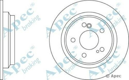 1x OE Quality Replacement Rear Axle Apec Solid Brake Disc 5 Stud 278mm - Single