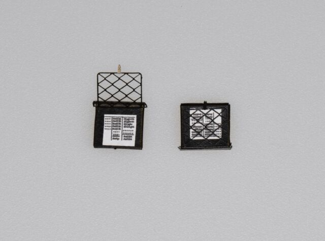 Dingler 2 Zettelkästen diagonal Messing schwarz lackiert Spur 1 1:32 (1Z-154/02)