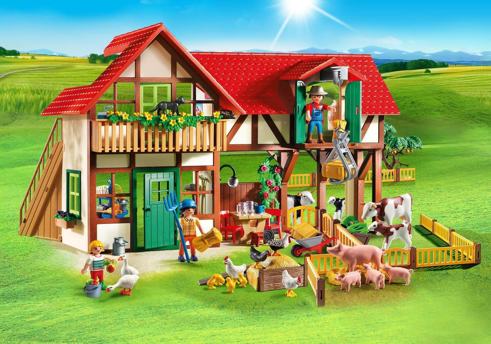 PLAYMOBIL 6120 Country Large Farm With Over 15 Animals | eBay for Farmhouse Playmobil  197uhy