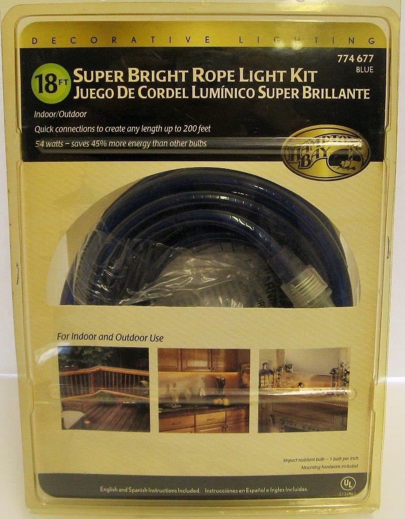 Hampton bay 18 ft super bright rope light kit 774677 blue ebay picture 1 of 1 aloadofball Gallery