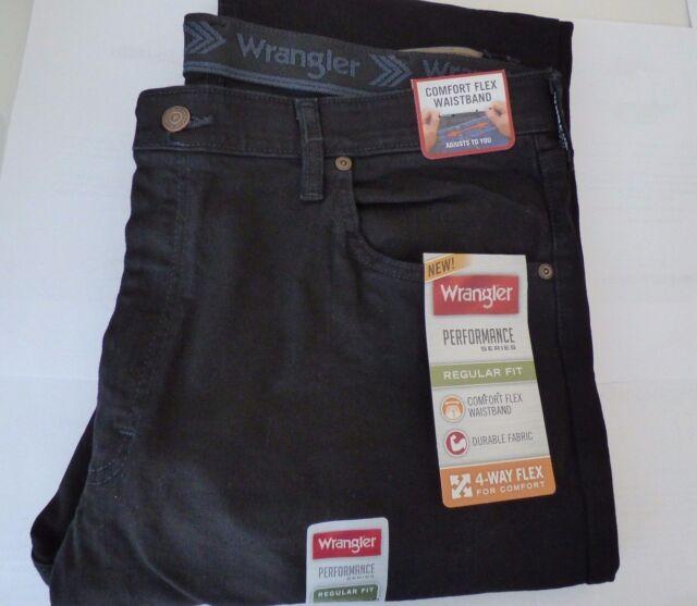 wrangler men mens flex comforter jean dp comfort amazon s at authentics waist waistband black