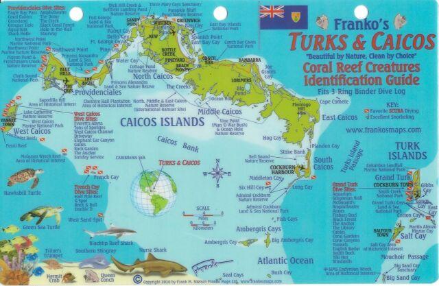Franko maps turks caicos reef creatures fish id card ebay turks caicos dive map reef creatures guide laminated fish card franko maps gumiabroncs Choice Image