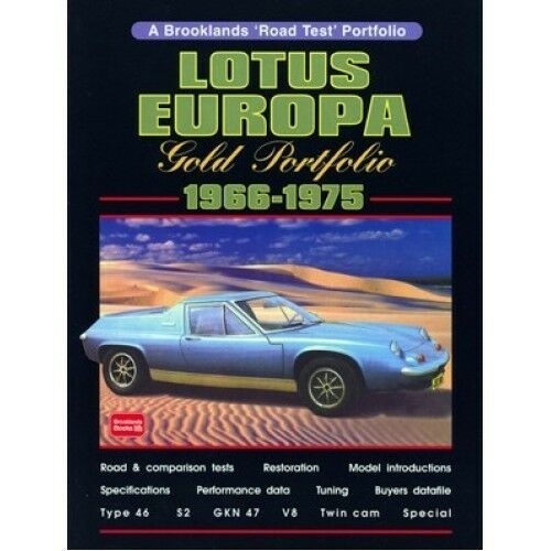 Lotus Europa Gold Portfolio 1966-1975 paper book