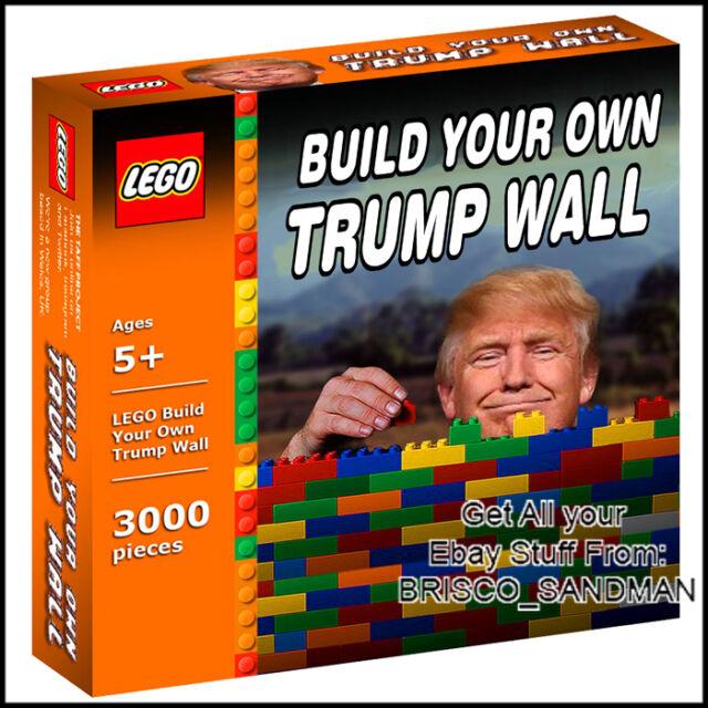 Fridge Fun Refrigerator Magnet Donald Trump Build Your Own Wall Lego ...
