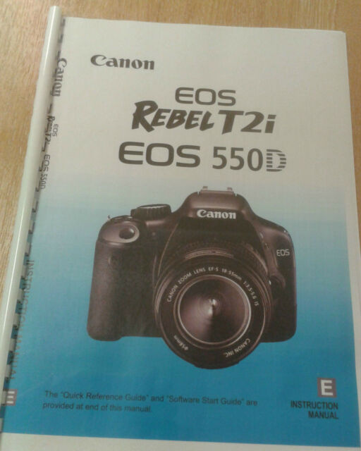canon eos 550d rebel t2i user manual guide instructions printed 260 rh ebay co uk canon rebel t2i manual mode canon rebel t2i manual pdf