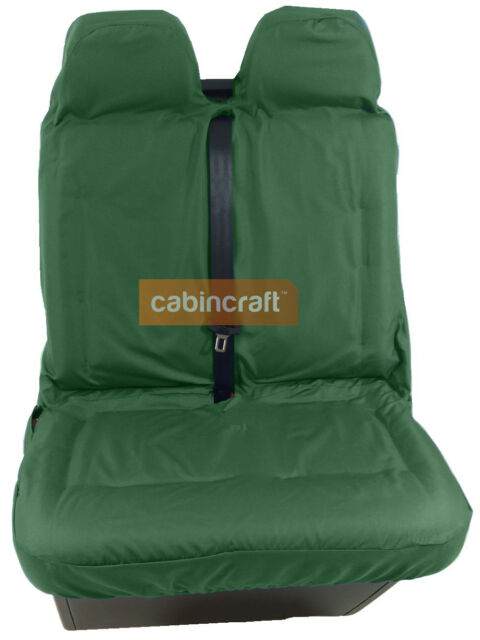 Universal Waterproof Car Front Double Van Seat Covers Pet Heavy Duty Green
