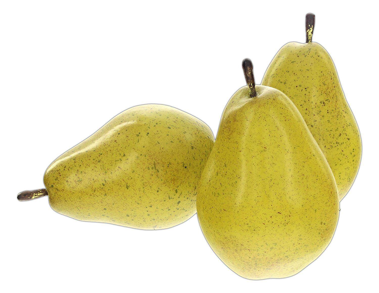 Prop Foam Pears Set of 3 Realistic LOOK 4.5\