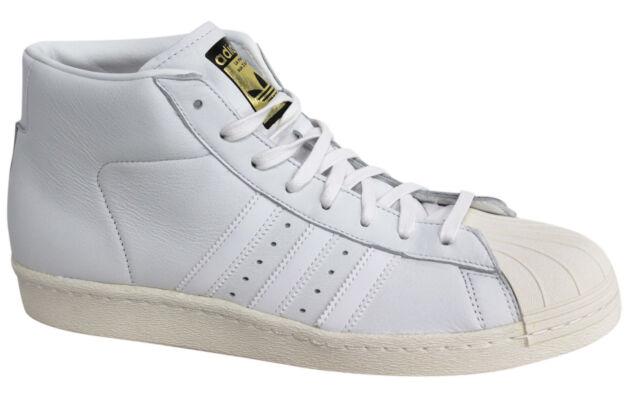 mens adidas originali (modello vintage - formatori in bianco