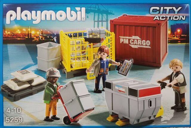 Playmobil 5259 Cargo Team mit Ladegut Erscheinungsjahr 2012 Neu/Ovp  41-teilig