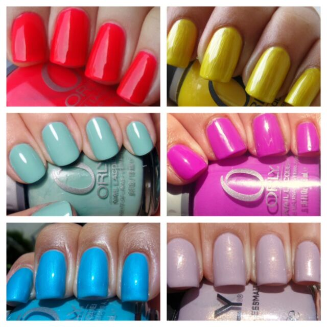 Orly Nail Varnish BRIGHTS, SHIMMERS, NEONS, PASTELS & GLITTERS Perfect 4 SUMMER
