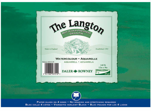 "Daler Rowney Langton Watercolour Block - NOT  14"" x 10"""