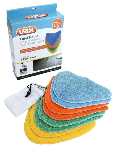 Genuine Vax Total Home Steam Mops Pads Pack Of 8