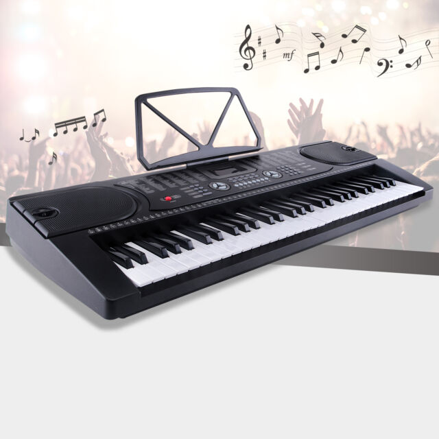 lagrima black 61 key music electronic keyboard electric. Black Bedroom Furniture Sets. Home Design Ideas
