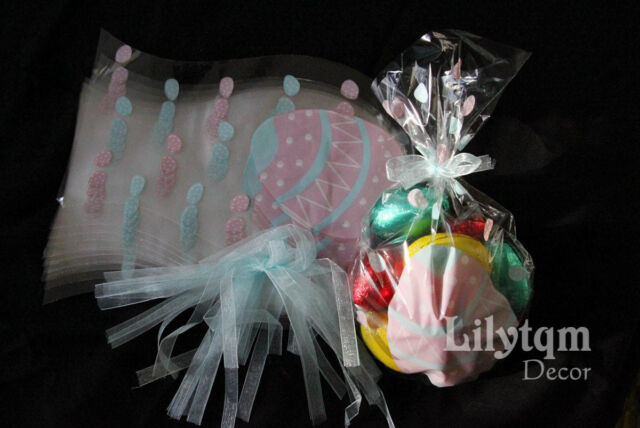 Pack10 easter gift party presentation cello cellophane bag chick egg pack10 easter gift party presentation cello cellophane bag eggs with blue tie negle Image collections
