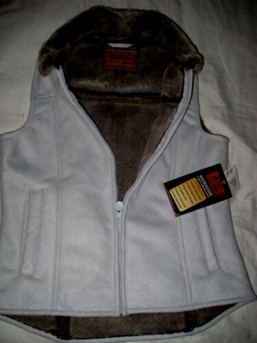 OUTBACK TRADING CO MICROSUEDE FAUX FUR LINED WATER WIND RESIST JACKET  VEST-NEW-S 1657a2e8c2ee