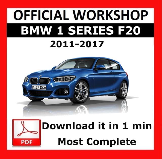 official workshop manual service repair bmw series 1 f20 2011 2017 rh ebay com BMW E92 Service Manual PDF BMW Auto Repair Manuals