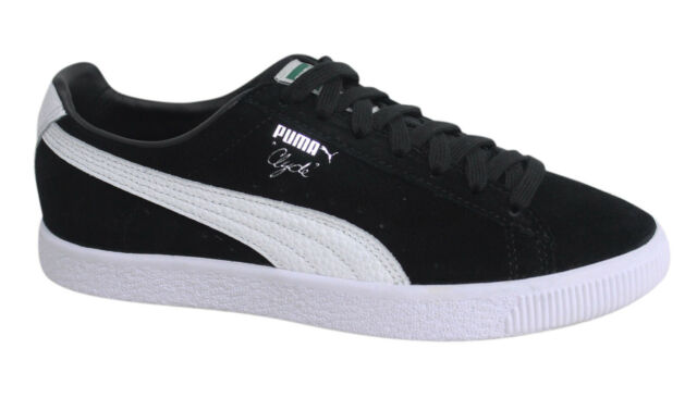Puma Clyde stringati neri in pelle scamosciata Sneaker Uomo 361703 01 D137