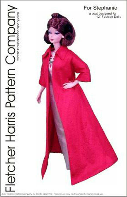 Coat Doll Clothes Sewing Pattern For 12 Fashion Royalty Integrity
