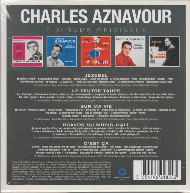 Charles Aznavour - 5 Albums Originaux   - 5 CD -  (NEU/OVP)