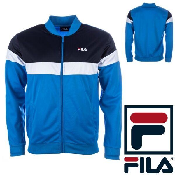 fila coat. fila mens full zip track jacket vintage 80s style tracksuit top new retro s-xxl coat