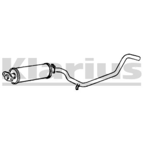 1x KLARIUS OE Quality Replacement Middle Silencer Exhaust For OPEL Diesel
