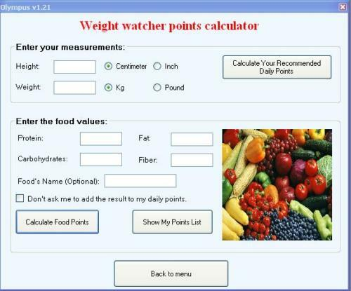 weight watchers calculator points plus software fat ebay
