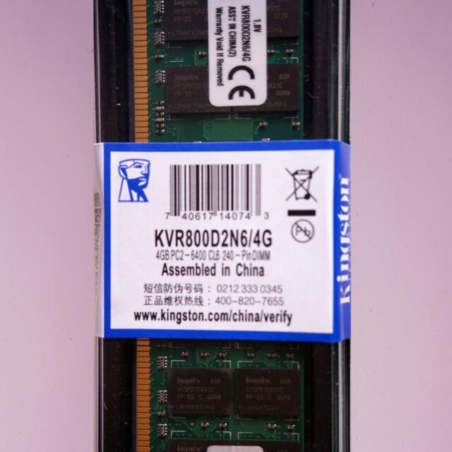 Memoria RAM DDR2  4GB 800 Mhz Kingston - ¡ NUEVA ! - NO COMPATIBLE CON INTEL