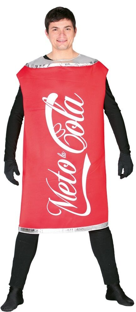 mens ladies fizzy drink cola can stag do festival fancy dress