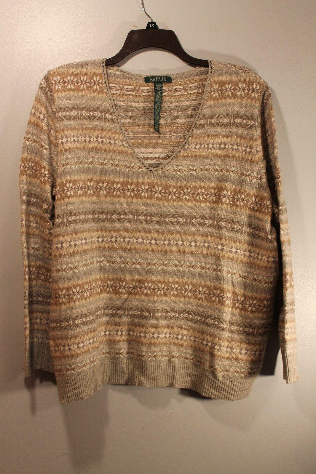 Ladies Tan Sweater Baggage Clothing