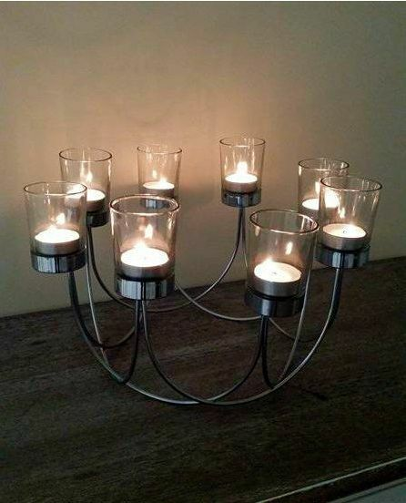 dining table candle holder. beautiful chrome tea light glass candle holder wedding dining table centrepiece n