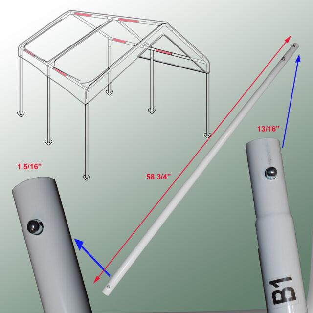 Cross Brace Pole 58 3 4 For 10X20 Caravan Canopy Domain Carport Garage Parts
