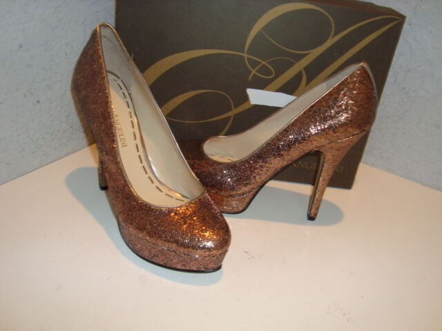 ENZO Angiolini NWB Damenschuhe Smiles Smiles Damenschuhe Gold Sequin HEELS Schuhes 8.5 Medium e57349
