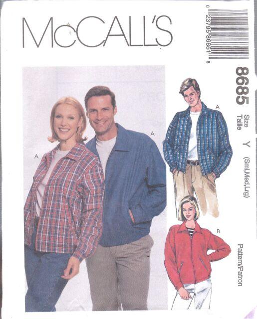 Uncut Mens & Womens S M L Unlined Lightweight Work Jacket Sewing ...