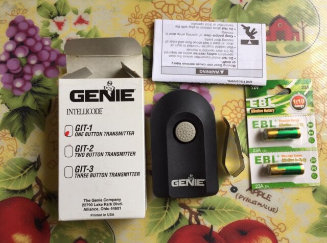 3genie Intellicode Model Acsctg Type 1 Garage Door Opener Remote