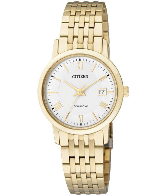 Citizen Eco-Drive EW1582-54A Mens Dress Gold Solar Watch NEW RRP $450.00