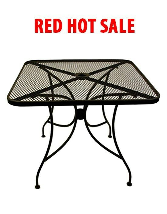 X Black Outdoor Patio Restaurant Table Furniture EBay - 24 x 24 restaurant table