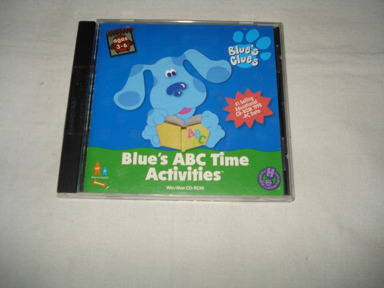 blue u0027s clues blue u0027s abc time activities jewel case windows mac