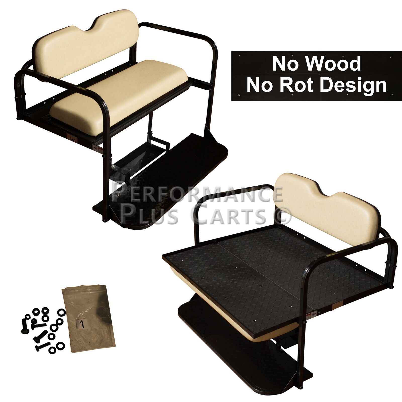 Club Car DS Golf Cart Flip Folding Rear Back Seat Kit - Buff ... Golf Cart Back Cushion on golf cart body, golf cart skirt, golf cart axle shaft, golf cart width, golf cart cushion covers, golf bag back cushion, golf cart seat, golf cart frame,
