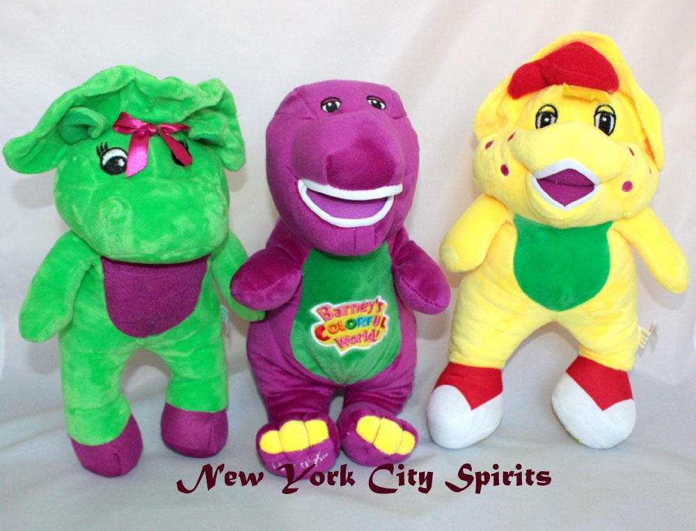 Barney Bj Baby Bop Plush 12 Singing i Love You Song Set of 3