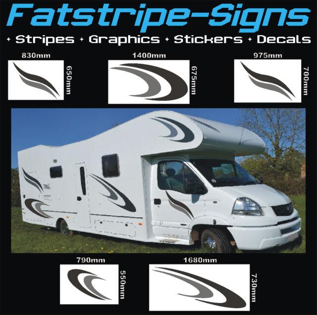 Motorhome Graphics Vinyl Stickers Decals Stripes Set Camper Van - Graphics for caravanscaravan stickers ebay