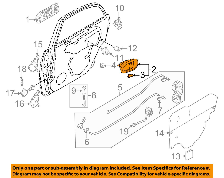 Mazda Oem 01 03 Protege Interior Door Handle Left S54n59330b80 Ebay